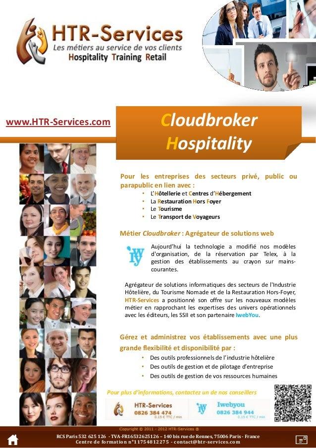 Htr s   plaquette produit - cloudbroker hospitality