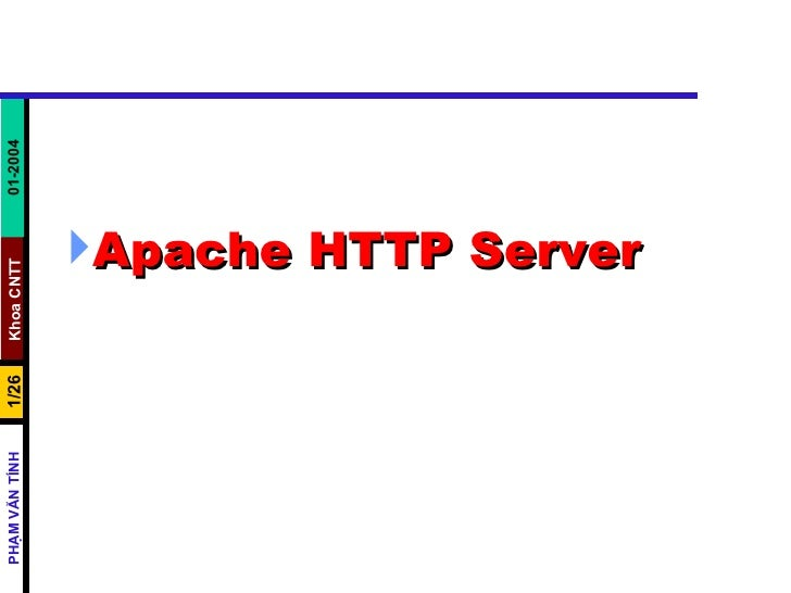 <ul><li>Apache HTTP Server   </li></ul>