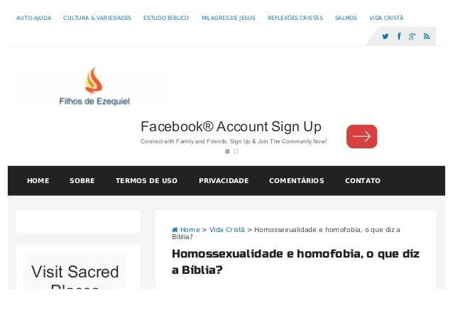  Home > Vida Cristã > Homossexualidade e homofobia, o que diz a Bíblia? Homossexualidade e homofobia, o que diz a Bíblia?...