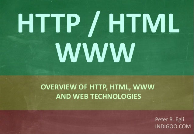 HTTP & HTML & Web