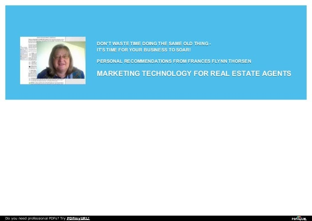Recommended Marketing Resources For Real Estate Agents.
