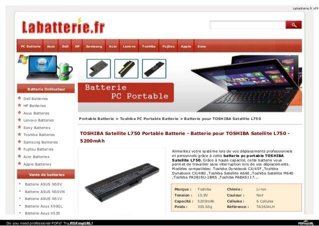 Labatterie.fr offr  PC Batterie  Asus  Dell  HP  Samsung  Acer  Lenovo  Toshiba  Fujitsu  Apple  Sony  Batterie Ordinateur...