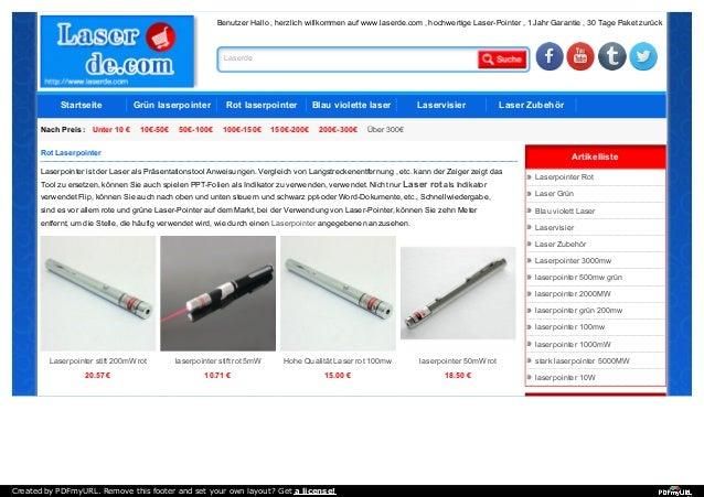 Benutzer Hallo , herzlich willkommen auf www.laserde.com , hochwertige Laser-Pointer , 1 Jahr Garantie , 30 Tage Paket zur...