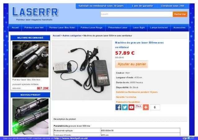 Laserfr Accueil > Autres catégories > Machine de gravure laser 500mw avec ventilateur Description du produit Paramètre de ...