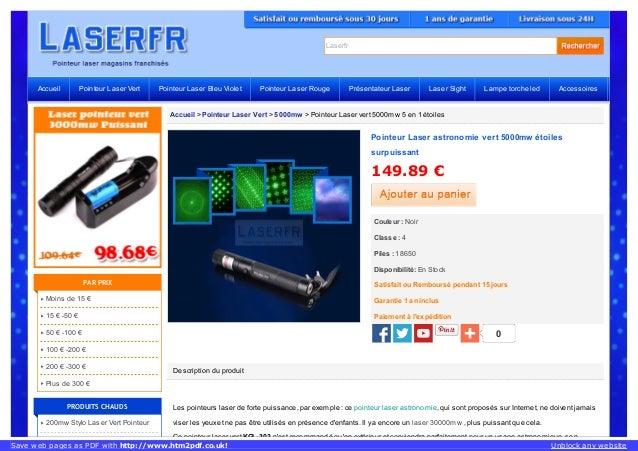 Laserfr Accueil > Pointeur Laser Vert > 5000mw > Pointeur Laser vert 5000mw 5 en 1 étoiles Description du produit Les poin...
