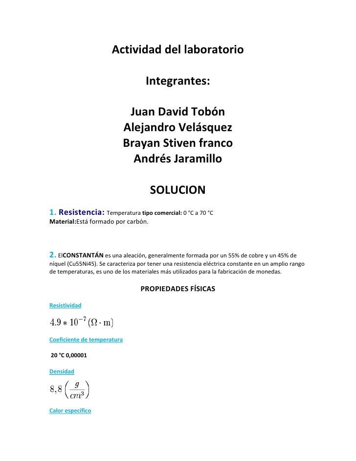 Actividad del laboratorio                                    Integrantes:                              Juan David Tobón   ...