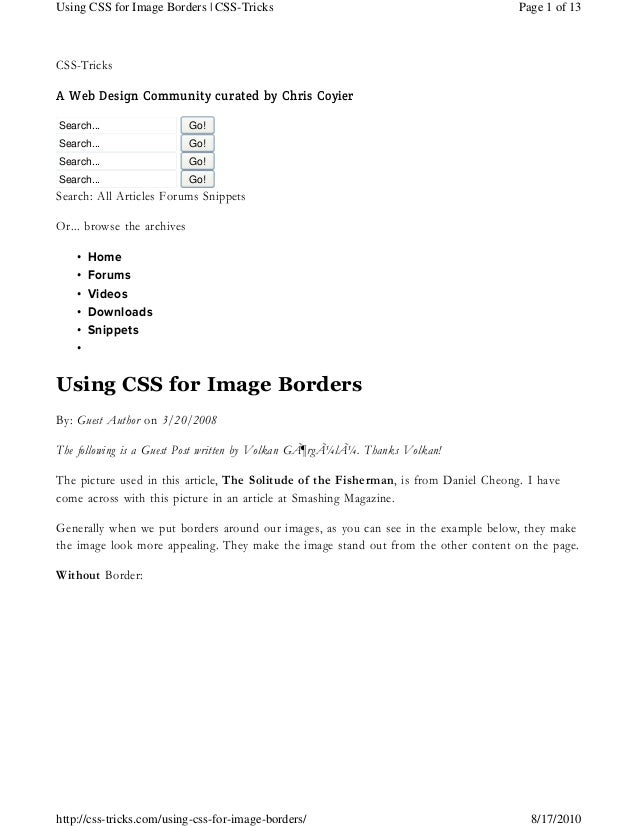 CSS-TricksA Web Design Community curated by Chris CoyierSearch... Go!Search... Go!Search... Go!Search... Go!Search: All Ar...
