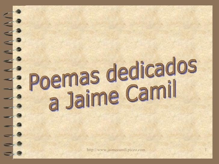 Poemas dedicados a Jaime Camil