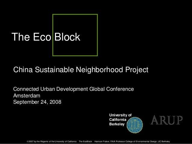 China Sustainable Neighborhood Project