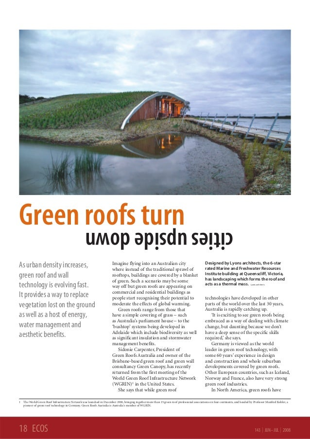 Green roofs turn                                  cities upside down                                                      ...