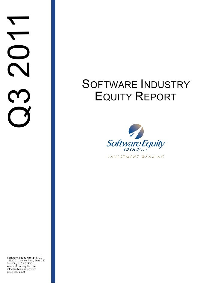 Software Equity Report