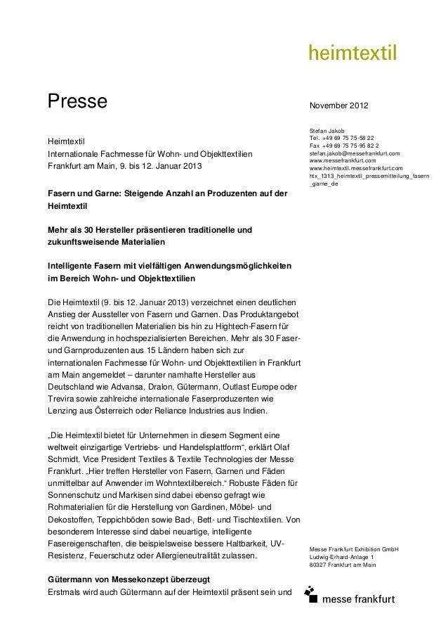 Presse                                                                 November 2012                                      ...