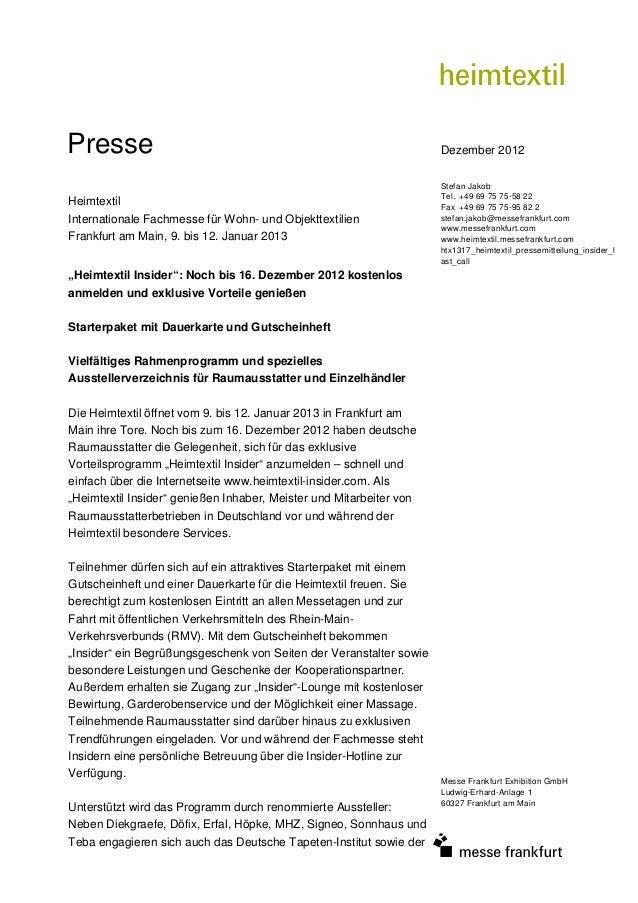 Presse                                                               Dezember 2012                                        ...