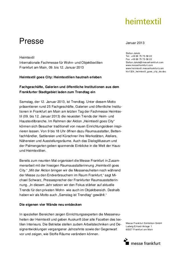 Presse                                                                  Januar 2013                                       ...