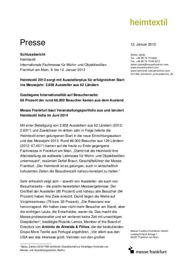 Presse                                                                              12. Januar 2013Schlussbericht         ...