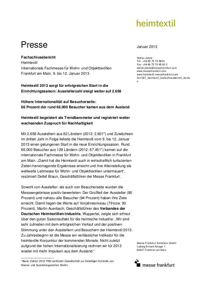Presse                                                                              Januar 2013Fachschlussbericht         ...