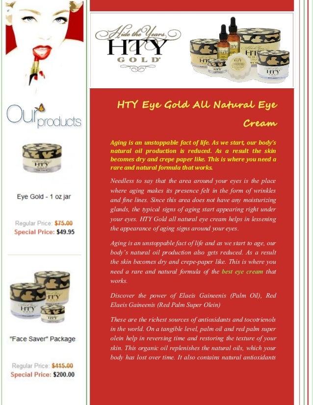 HTY Eye Gold All Natural Eye Cream