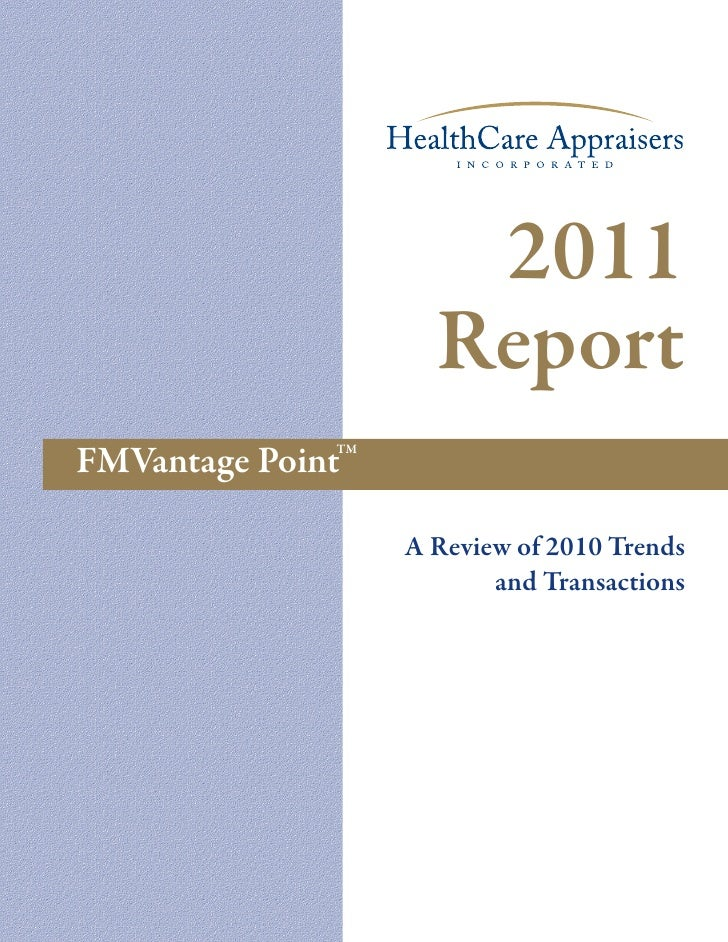 HealthCare Appraisers - 2011 Report