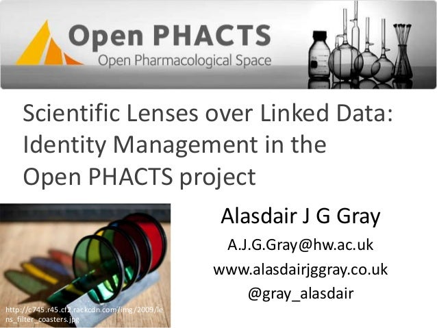 Scientific Lenses over Linked Data: Identity Management in the Open PHACTS project Alasdair J G Gray A.J.G.Gray@hw.ac.uk w...