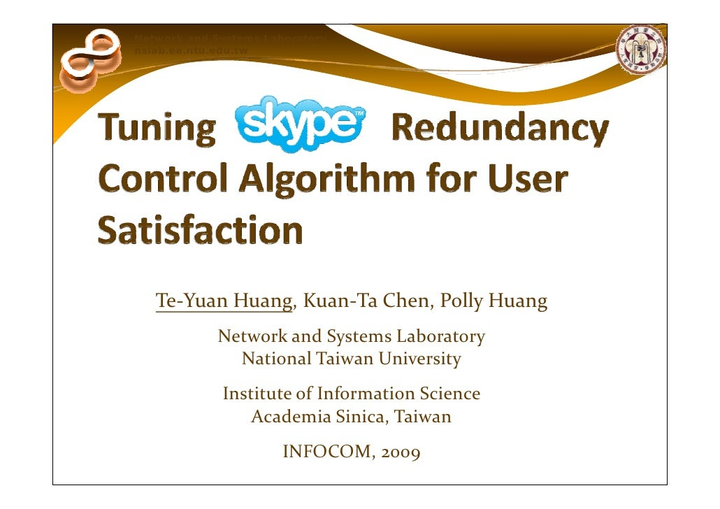 Tuning Skype's Redundancy Control Algorithm for User Satisfaction