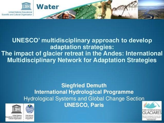 UNESCO' multidisciplinary approach to develop adaptation strategies