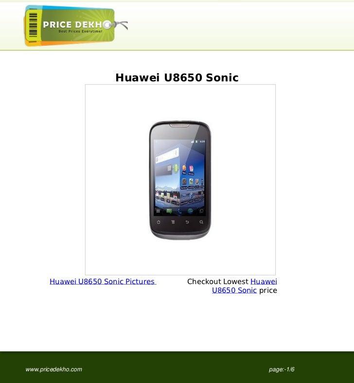 Huawei U8650 Sonic specification