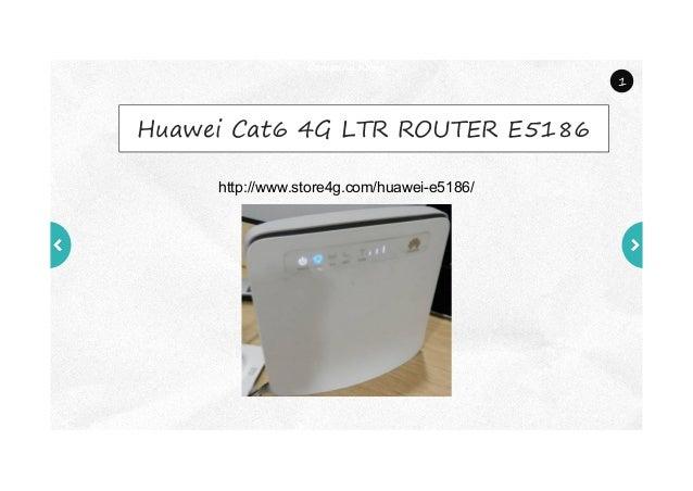 Unlocked Huawei E5186 4G Cat6 Router