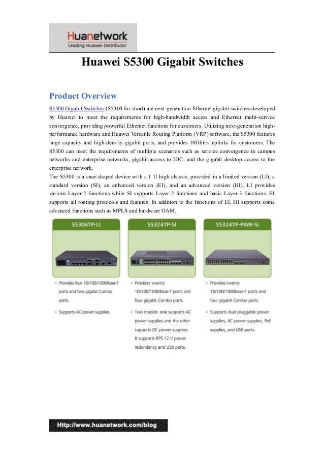 Huawei s5300 gigabit switches