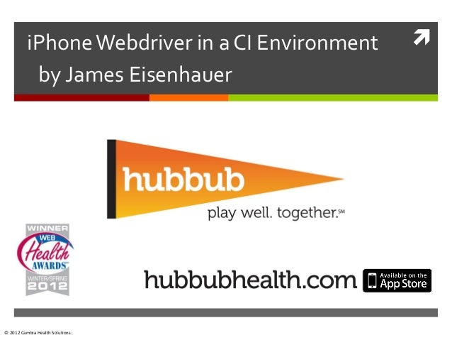 Hubbub health-i phone-test-automation