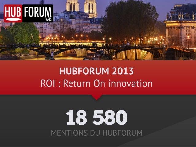 Les chiffres du HUBFORUM Paris 2013