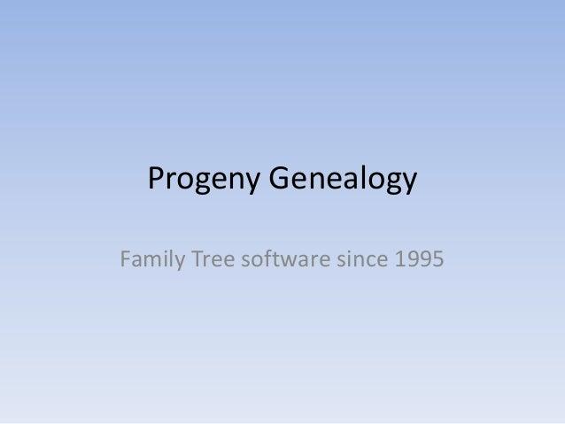 Progeny Genealogy
