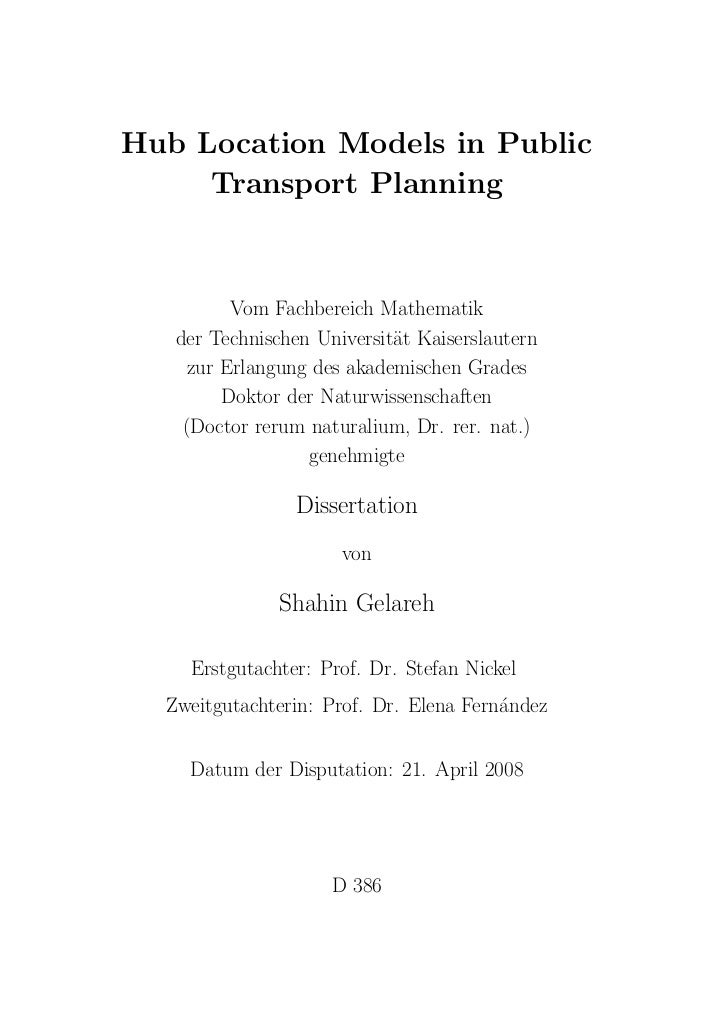 Hub location models in public transport planning