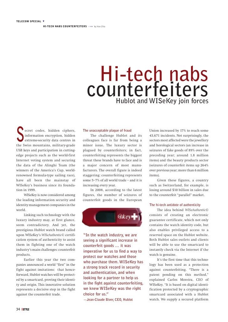 TELECOM SPECIAL M                   HI-TECH NABS COUNTERFEITERS »»» by Ken Zita                                           ...