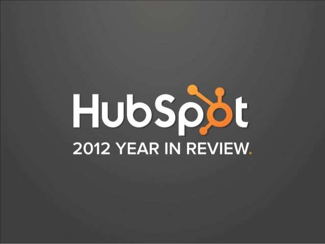 HubSpot 2012 Annual Report