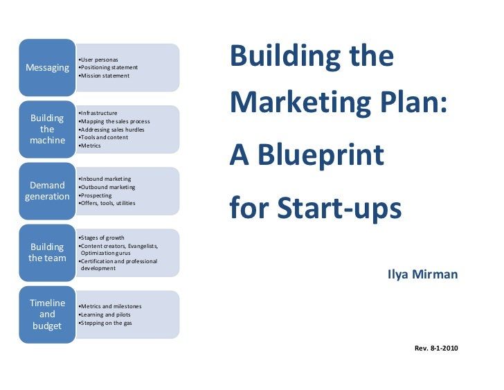 Building the marketing plan a blueprint for start ups for Marketing communications plan template pdf