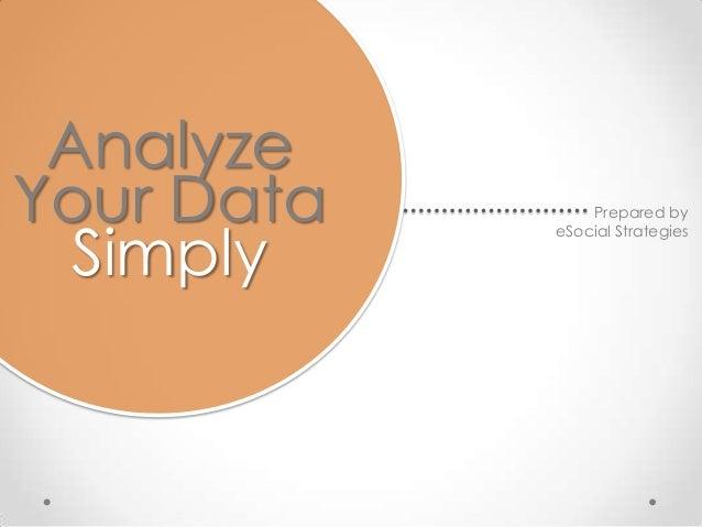 Analyze Data Simply