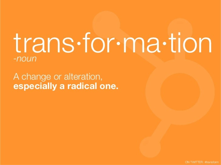 April 4-8, 2011 is Marketing Transformation Week