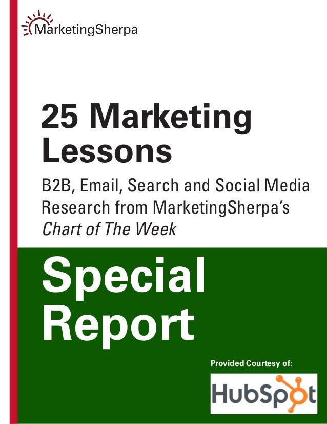 25 Marketing Lessons