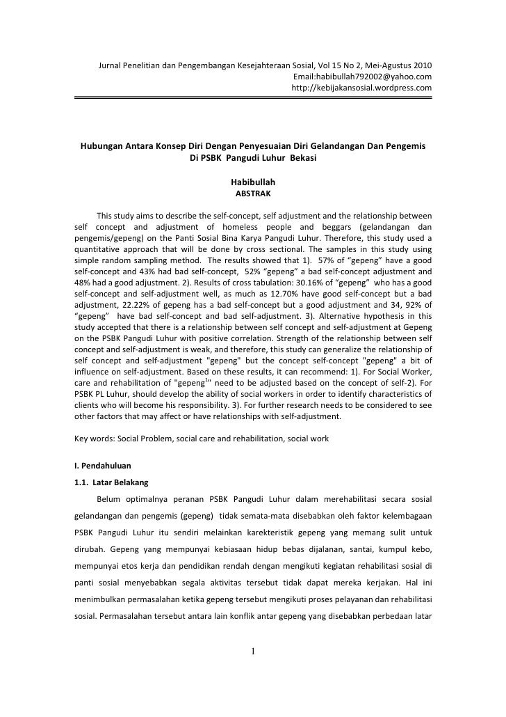Jurnal Penelitian dan Pengembangan Kesejahteraan Sosial, Vol 15 No 2, Mei-Agustus 2010                                    ...