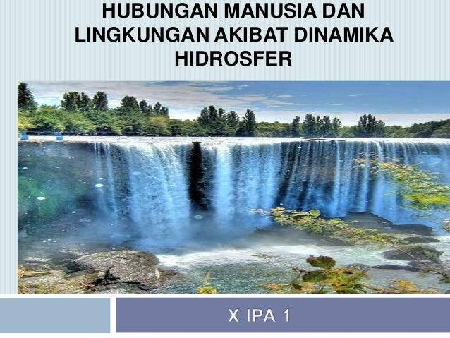 Dinamika hidrosfer (Geografi kelas X)
