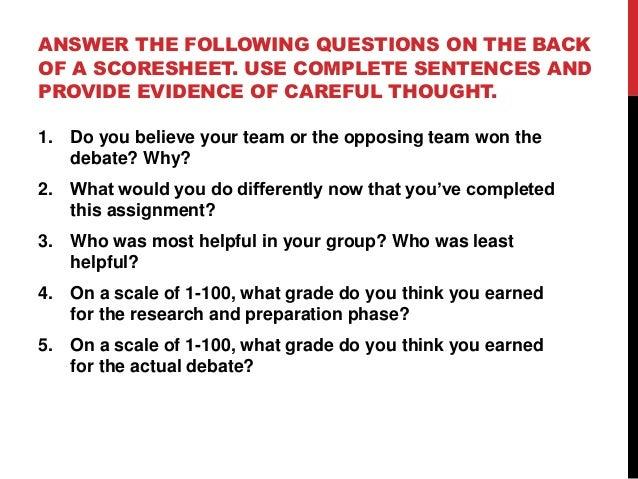 23. Huckabee debate notes and format 3 w rubric  2
