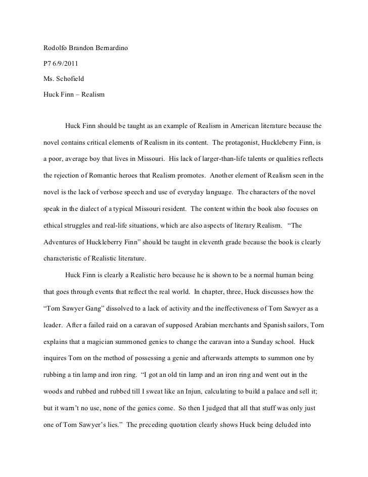the adventures of huckleberry finn essay assignment