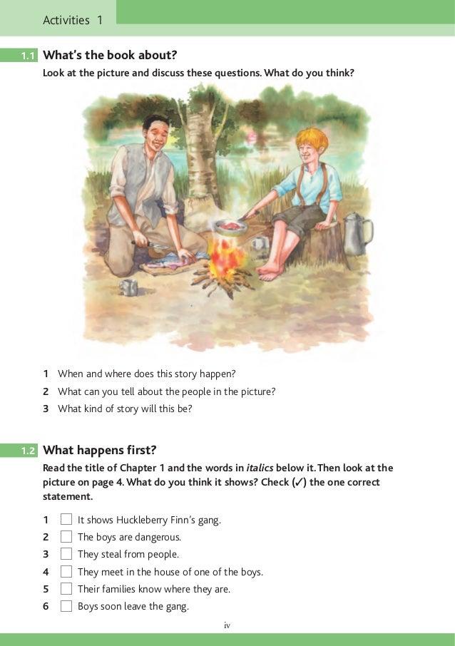 Huckleberry Finn question?