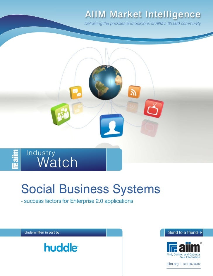 Social business systems - success factors for Enterprise 2.0 applications