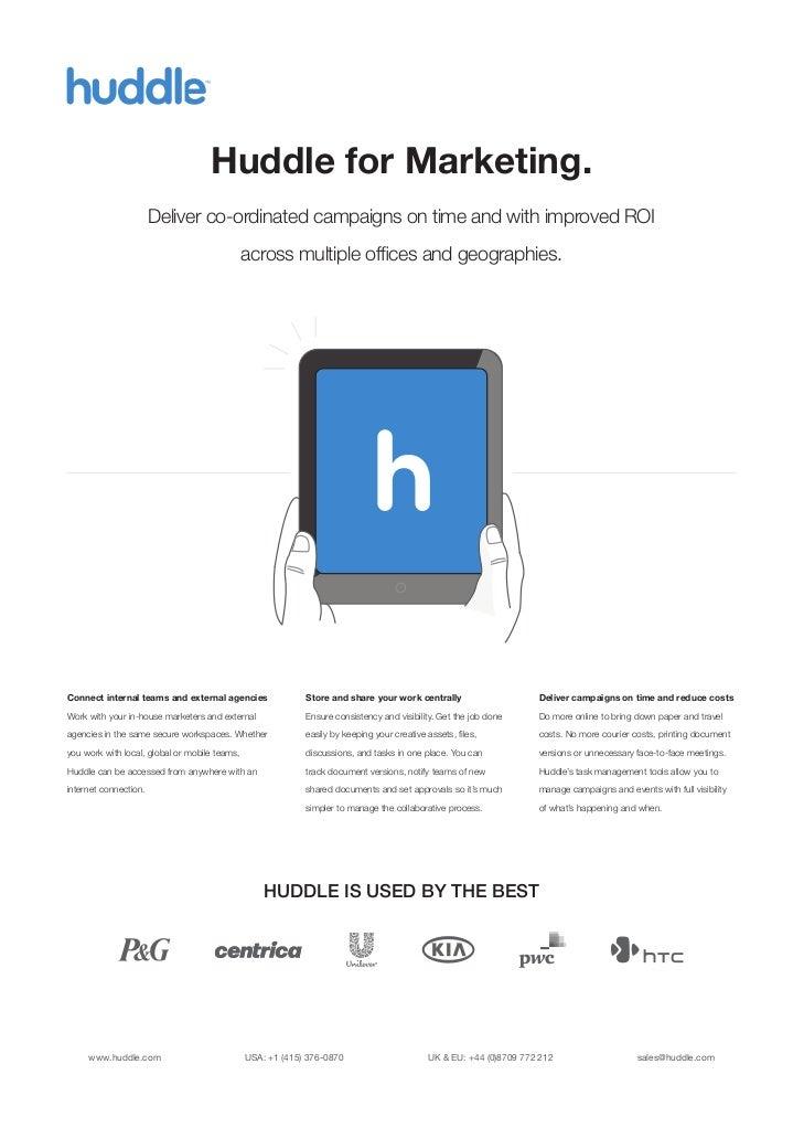How Huddle Helps Marketing Teams