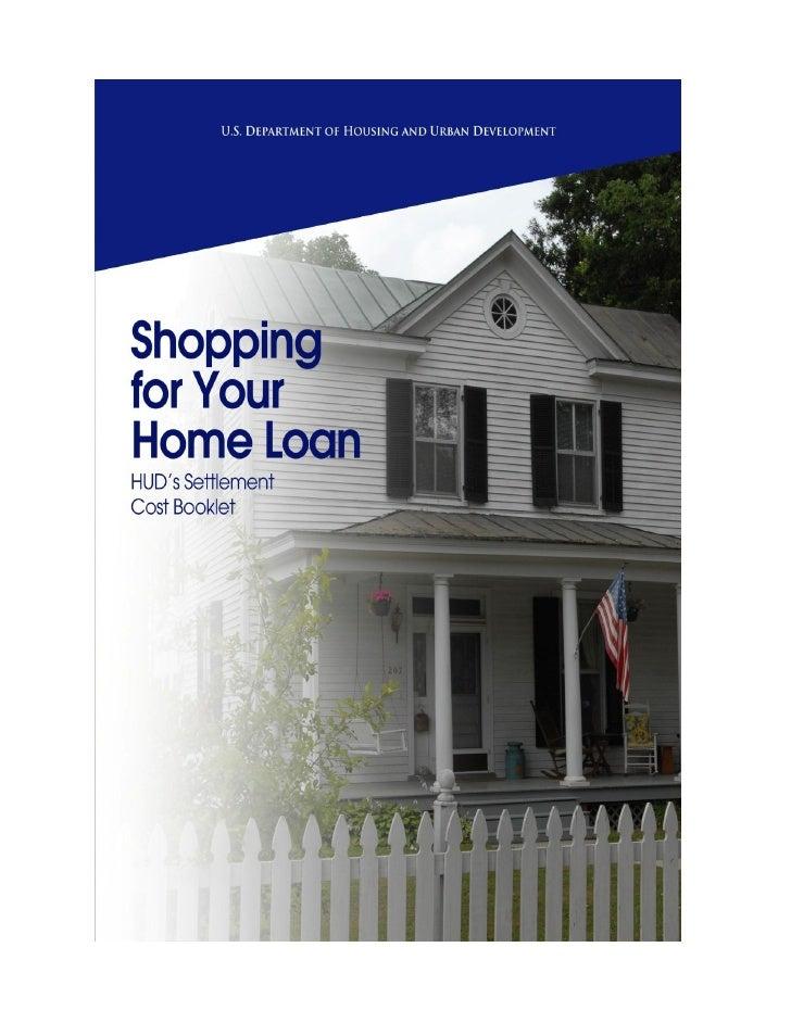 HUD Settlement Costs Booklet