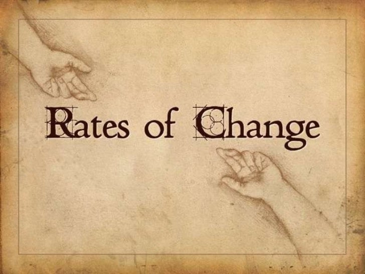 Rates of Change