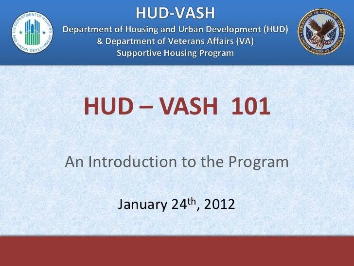 HUD-VASH 101