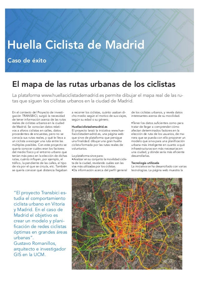 Huella Ciclista de Madrid mapas para el ciclista urbano