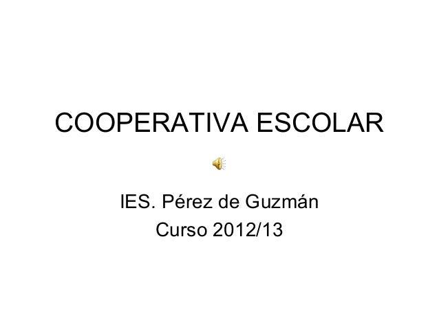 COOPERATIVA ESCOLAR IES. Pérez de Guzmán Curso 2012/13